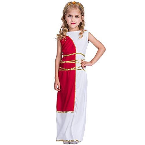 YouN Kids Girls Halloween Prinzessin Kostüm griechische Göttin Cosplay Kleid Set (S) (Griechischen Dress Up Kostüme)