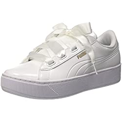Puma Damen Vikky Platform Ribbon 366419-02 Sneaker, Mehrfarbig (White 001), 40 EU