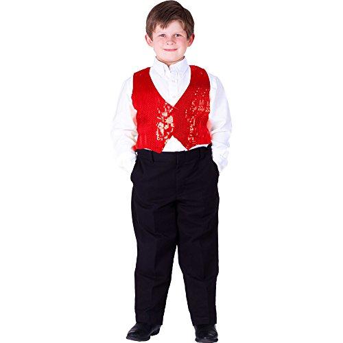 Dress Up America Chaleco de Lentejuelas Rojo para niños