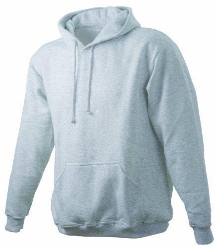 James & Nicholson Unisex Kapuzenpullover Sweatshirt Hooded Sweat Grau (greyheather)
