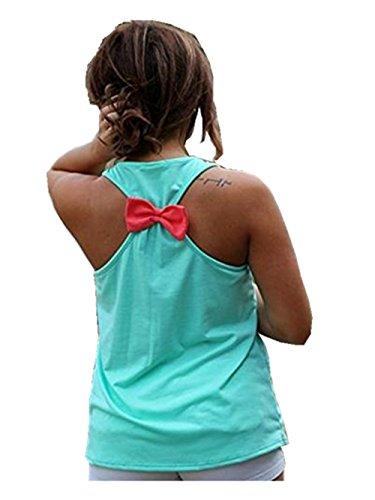 Frauen Damen Anchor Tank Top - Racerback Tank Top-Sommer-Sleeveless T-shirt Green
