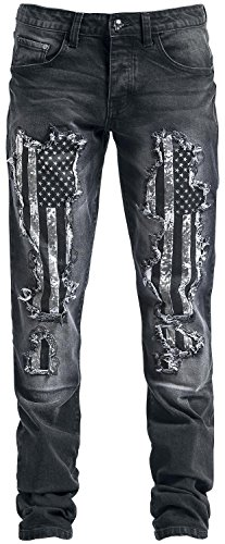 Rock Rebel by EMP Flag Pete (Straight Fit) Jeans nero W36L34