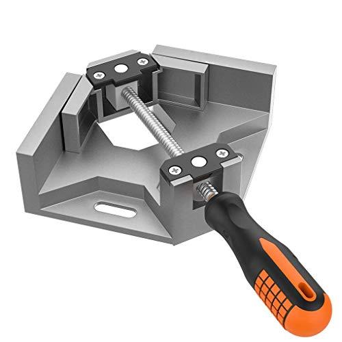 Preisvergleich Produktbild Kongnijiwa Werkzeug Aluminiumlegierung einziger Handgriff 90 Grad rechtwinklig Clamp zur Holzrahmen Clip-Ordner Tool Photo Frame Corner