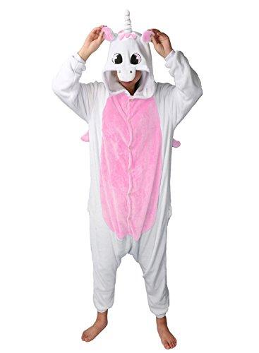 ma Jumpsuit Cosplay Schalfanzug Festliche Anzug Flanell Tierkostüm Kartonkostüm Tierschalfanzug - Mescara (Medium, pink) (60-sekunden-halloween-kostüme)