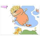 Topposter Poster für Kinderzimmer - Süße Katze springt hoch (Poster in Gr. 60x80cm)