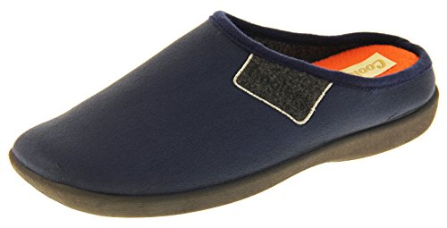 Footwear Studio Hommes en Mousse à Mémoire Mule Chaussons Extérieure Semelle 43 EU