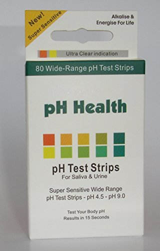 Preisvergleich Produktbild Energise pH Test Strips - 80 wide range strips pH4.5 - pH9.0 by pH Health