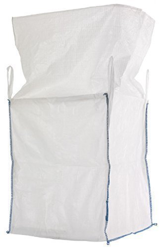 Preisvergleich Produktbild Big Bag 90x90x110 cm mit 4 Schlaufen und Einfüllschürze, 5000 KG Bruchlast DIN EN ISO 21898