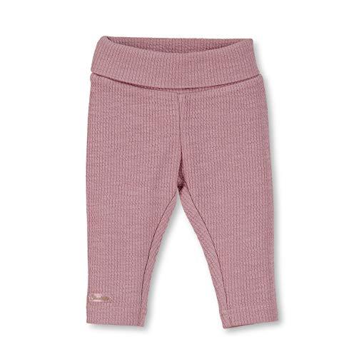 Sterntaler Gerippte Leggings mit Umschlag für Mädchen, Alter: 6-9 Monate, Größe: 74, Rosa, 5701921 -