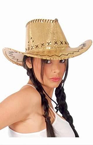 Chapeau cowboy argent - unique