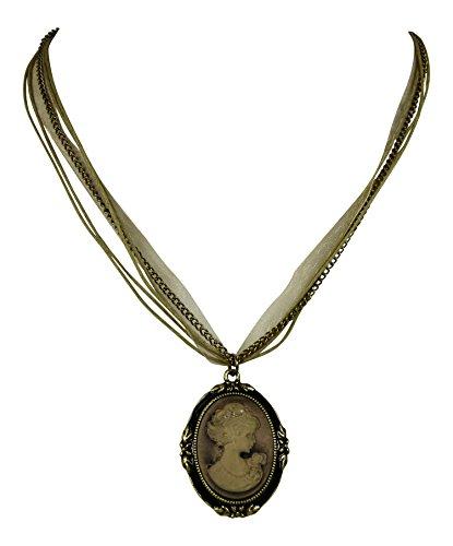 ette mit Kamee / Gemme im Viktorianischem Stil - Vintage-Schmuck (Vintage Trachten Schmuck Halskette)