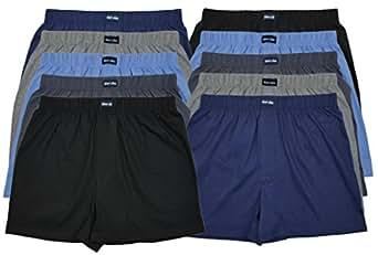 10 Boxershorts in 10 modischen Farben - locker & weiche Unterhose Short Boxer 100% Baumwolle 10er Spar Pack Jungen Man M L XL 2XL 3XL 4XL