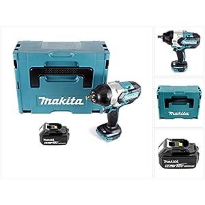 Makita DTW 1002 T1J Akku Schlagschrauber 1/2′ 18V 1000Nm Brushless + 1x Akku 5,0Ah + Makpac – ohne Ladegerät