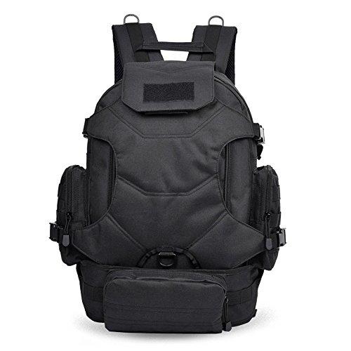 Dlflyb Outdoor Rucksack - Für Männer Und Frauen Sport Taschen - Große Kapazität Freizeit Computer Packs black