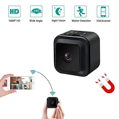 Mini Kamera Klein Kamera LXMIMI Mini Camera HD 140° Weitwinkel Mini Kamera WiFi für Innen/Außenüberwachung mit Nachtsicht und Bewegungserkennung
