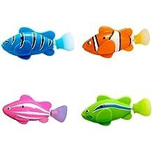 aimdonr Natación Rob oter pescado, 4 pieza batteriebetriebene eléctrico nadar, aktivierter Pez Payaso,
