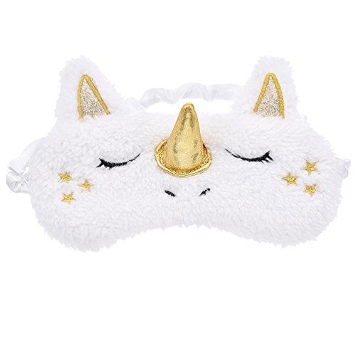 YNuth Masque De Sommeil Licorne Design Kawaii Style (Doré)