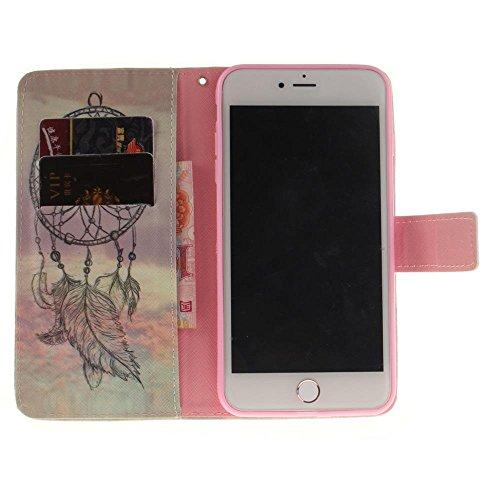"Coque Protection Apple 5.5 iPhone 7 Plus,KATUMO Pochette iPhone 7 Plus/iPhone8 Plus Flip Case Cover Etui en Cuir Portefeuille Housse iPhone 7 Plus 5.5"" Coques-#2Or #1Campanule"