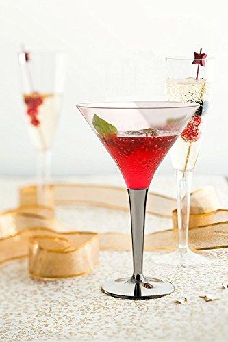 rtini/Cocktail Gläser mit Silber Vorbau (Günstige Martini-gläser)