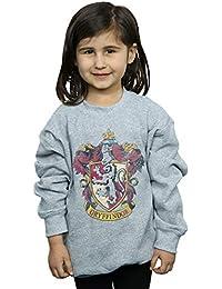 Harry Potter niñas Gryffindor Distressed Crest Camisa De Entrenamiento