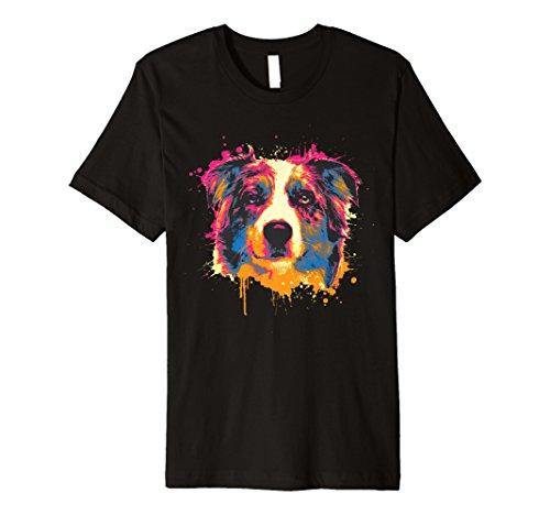 Australian Shepherd Dog T-shirt (Australian Shepherd Hund Shirt | Splash Aussie Tee Geschenk)