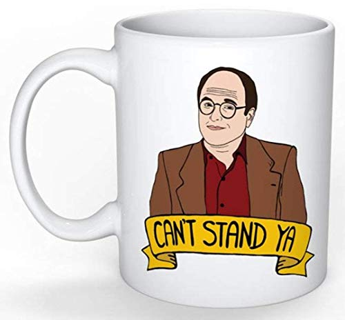 George Costanza Mug (Jerry Seinfeld, Elaine Benes, Cosmo Kramer, Larry David, Curb your Enthusiasm), 11oz Ceramic Coffee Novelty Mug/Cup, Gift-wrap Available (Seinfeld Jerry Halloween)