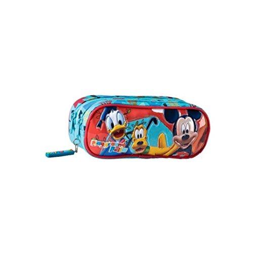 Astuccio portacolori scuola Disney Topolino Paperino Pluto