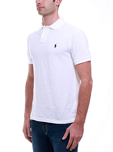 Polo Ralph Lauren Herren Poloshirt SS KC Slim Fit White White