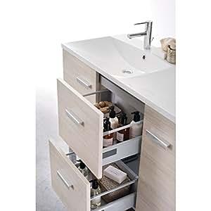 Meuble WOODSTOCK 2 tiroirs argile 120cm Réf 122070554 / BR51685