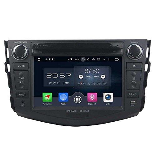 7 Zoll 2 Din Android 6.0 OS Autoradio für Toyota RAV4 2006 2007 2008 2009 2010 2011 2012, kapazitiver Touchscreen mit 8 Core 1.5G Cortex A53 CPU 32G Flash und 2G DDR3 RAM GPS Navi Radio DVD Player (Rv-cd-dvd-player)