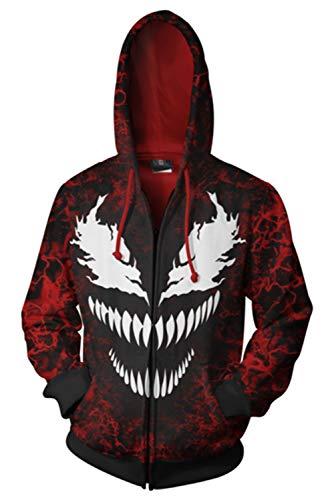 Kapuze Für Erwachsene Rot Kostüm Hoodie - MingoTor Herren Damen Kapuzenjacke Pullover mit Kapuze Sweatjacke Hoodie Cosplay Kostüm Rot XL