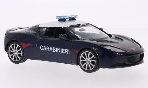 lotus-evora-s-carabinieri-modellauto-fertigmodell-motormax-124