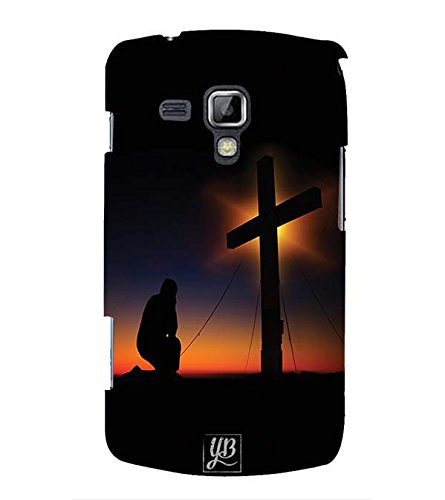 YuBingo Designer Printed Plastic Mobile Back Case Cover Panel for Samsung Galaxy S Duos : S Duos 2 ( Praying to God )  available at amazon for Rs.449
