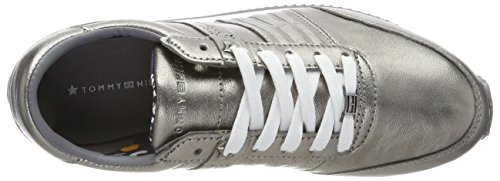 Tommy Hilfiger P1285hoenix 8c3, Scarpe da Ginnastica Basse Donna Argento (Dark Silver)