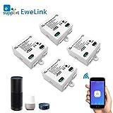 Smart WLAN Schalter Wireless Relais Modul WiFi Switch und Fernbedienung Intelligentes System Sprachsteuerung mit Amazon Alexa, Google Assistant, IFTTT, DIY Smart Home für elektrische Haushaltsgeräte