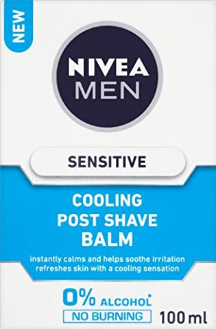 NIVEA Sensitive Cooling Post Shave Balm 100ml Pack of 3