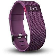 Fitbit Charge HR - Pulsera de actividad y ritmo cardíaco, color morado, talla L