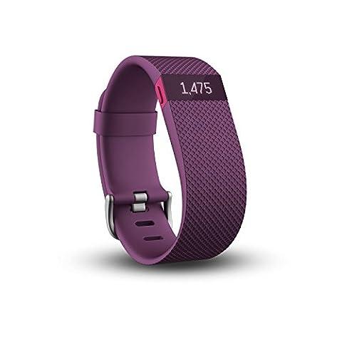 Fitbit Charge HR Bracelet tracker d'activités/sommeil Prune Taille