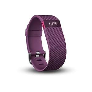 Fitbit Charge HR Braccialetto Monitoraggio Battito Cardiaco e Attività Fisica, Taglia S, Prugna