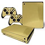 Mcbazel Pattern Series Skin Sticker for Xbox One X Console and Controller Gold Glossy