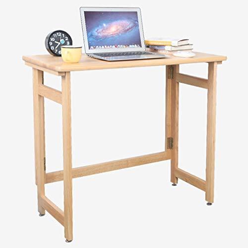 JIAQI Praktischer Multifunktionstisch Leqi Massivholzklappcomputertisch Eiche einfacher Klapptisch Schreibtisch Schreibtisch Schreibtisch Tisch Stilvoller und Raffinierter Lesetisch A ++
