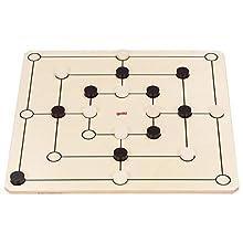 Spiele-Set Dame und Mühle: 50 x 50 cm, mit Baumwollbeutel, per Set