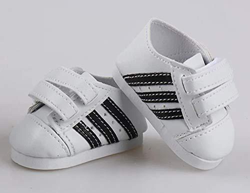 Mel´sDollDresses+Accessories Puppenkleidung, Schuhe, Sneaker, Weiss, z.B. für die Baby Born