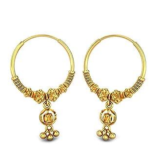 Candere By Kalyan Jewellers 22k (916) Yellow Gold Elissa Hoop Earrings