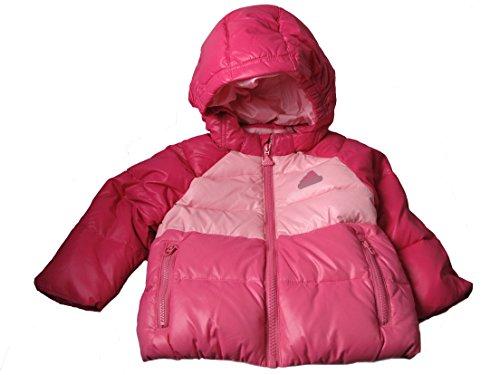 Adidas imbottita bambina rosa foderato con cappuccio piumino cappotto Pink 18-24 Mesi 92 cm