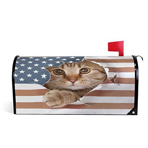 Wamika Briefkastenpapier, britische Katzen-Design, magnetisch, für den Außenbereich, 5,8 cm (L) x 45,7 cm (B)