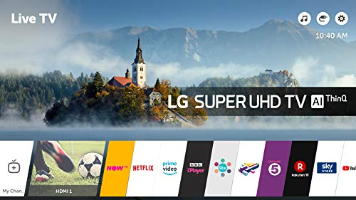 LG 65SK8000PLB 65-Inch Super UHD 4K HDR Premium Smart LED TV with Freeview Play - Brilliant Titan  2018 Model