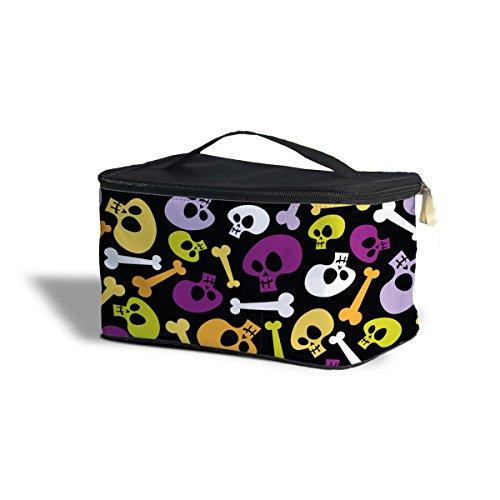 Queen of Cases Cartoon Halloween Skulls Cosmetics Storage Case - One Size Cosmetics Storage Case Kosmetik-Etui Kosmetikorganiser