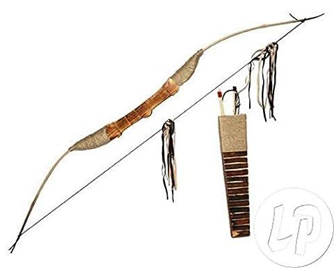 Lot / Set von 6 Stück - Holz-Bogen, Pfeil Köcher & einfach (Einfache Bogen)