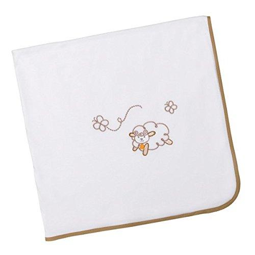 Arrullo para bebé punto de algodón (80x80 cm) OVEJITA Lino